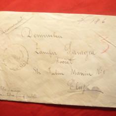 Plic circulat 1937 cu 3x3lei Uzuale Ferdinand, Odobesti- Cluj, Recomandat