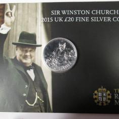 20 POUNDS 2015  Argint pur 999 / 1000 Anglia - Marea Britanie, PROOF, Europa