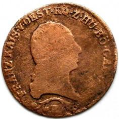 MOKAZIE, AUSTRIA - TRANSILVANIA, 1 KREUTZER 1812 E, ALBA IULIA (Karlsburg), Europa, Cupru (arama)