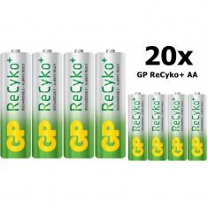GP ReCyko+ AA 2000mAh baterii reincarcabile + cutie Conţinutul pachetului 20x - Baterie Aparat foto