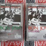 BON JOVI CROSS ROAD 2 CASETE, VOL 1 SI 2 - Muzica Rock, Casete audio