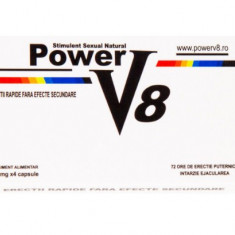 Power V8 Pastile Potenta Ejaculare Precoce Impotenta Stimulent Erectie Natural - Stimulente sexuale, Intarzierea ejacularii