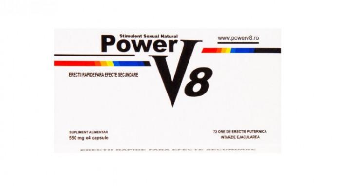 Power V8 Pastile Potenta Ejaculare Precoce Impotenta Stimulent Erectie Natural foto mare