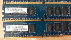 Kit 4GB DDR 2 Desktop 2 x 2 Gb NANYA 800 Mhz PC2-6400U-666-12 foto