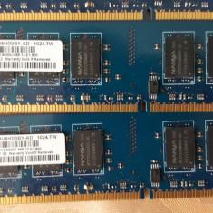 Kit 4GB DDR 2 Desktop 2 x 2 Gb NANYA 800 Mhz PC2-6400U-666-12