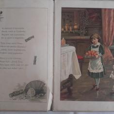 CARTE PENTRU COPII, LITOGRAFII, CCA 1900 - Carte de povesti