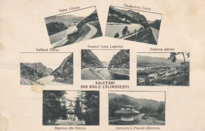SALUTARI DIN  BAILE CALIMANESTI  DEFILEUL TURNU GURA LOTRULUI SATUL CIRC. 1927 foto
