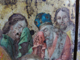 """Icoana veche, deosebita pictura pe lemn """" Adormirea Maicii Domnului """""""