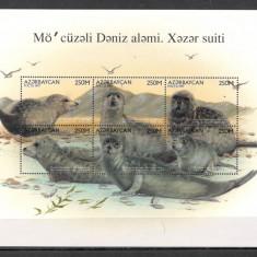 Azerbaidjan.1997 Fauna marina de la Marea Caspica-coala mica  SA.661, Nestampilat