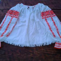 IE PTR FETITA DE 10- 15 ANI - Costum populare, Marime: 35, Culoare: Alb