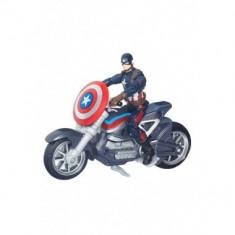 Marvel Legends 2016, Civil War: Captain America cu motocicleta - Figurina Povesti Hasbro