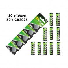 GP CR2025 Lithium battery Conţinutul pachetului 10x Blistere - Baterie Aparat foto