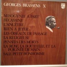 GEORGES BRASSENS - no.10 (1969/PHILIPS/FRANCE) - Vinil/RAR/Analog 100%/Impecabil