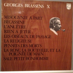 GEORGES BRASSENS - no.10 (1969/PHILIPS/FRANCE) - Vinil/RAR/Analog 100%/Impecabil - Muzica Folk universal records