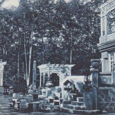BAILE GOVORA CASTELUL APELOR (CUCURIGUL)LIBRARIA ANASTASIU & PETRESCU RM. VALCEA - Carte Postala Oltenia dupa 1918, Brezoi, Circulata, Printata