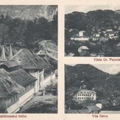 BAILE GOVORA STABILIMENTUL BAILOR LIBRARIA ANASTASIU & PETRESCU RM. VALCEA - Carte Postala Oltenia dupa 1918, Necirculata, Printata