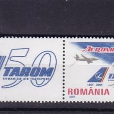 ROMANIA 2004, LP 1646 a, 50 ANI DE EXISTENTA-TAROM SERIE CU VINIETA MNH - Timbre Romania, Nestampilat