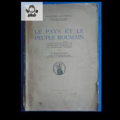 S Mehedinti Le Pays et le Peuple Roumain 1937 Monitorul Oficial 108 pag - Carte Istorie