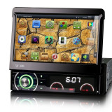 Navigatie auto 1DIN, cu ecran retractabil,all-in-one, functie TV, GPS