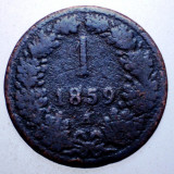 2.181 AUSTRIA 1 KREUZER 1859 A, Europa, Cupru (arama)