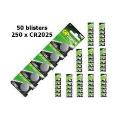 GP CR2025 Lithium battery Conţinutul pachetului 50 x Blister - Baterie Aparat foto