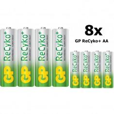 GP ReCyko+ AA 2000mAh baterii reincarcabile + cutie Conţinutul pachetului 8x - Baterie Aparat foto