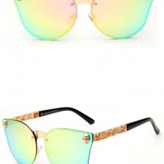 Ochelari De Soare Dama Gothic Desgin - Protectie UV 100%, Rama Metal - Model 3, Femei