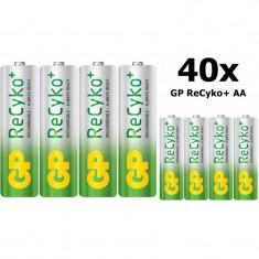 GP ReCyko+ AA 2000mAh baterii reincarcabile + cutie Conţinutul pachetului 40x - Baterie Aparat foto