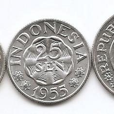 Indonezia Set 3 - 10, 25, 50 Sen 1951/ 59 - UNC !!!, Asia