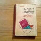 Gh. Gheba exercitii si probleme de matematica 1967 - Carte Matematica