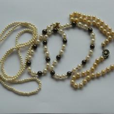 Trei coliere vintage margelute/ lantisor