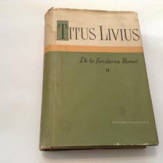 De la fundarea Romei/vol.2-Titus Livius,RF11/2