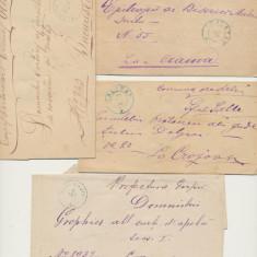 Romania Oltenia anii 1870 lot 4 plicuri Tg Jiu Calafat Slatina stampile frumoase, An: 1875