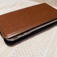 Iphone 4, 8 GB, negru, cu husa piele flip verticala, ireprosabil, nota 10/10