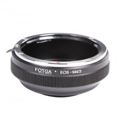 Inel Adaptor lentile Canon EOS EF - Body Micro 4/3 Olympus Panasonic M4/3 - Inel adaptor obiectiv foto