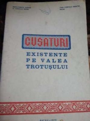 Carte veche lucru manual.Cusaturi Existente Pe Valea Trotusului-1979,T.GRATUIT foto