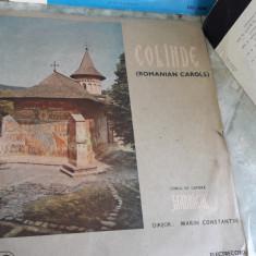 COLINDE CORUL DE CAMERA MADRIGAL STARE FOARTE BUNA . - Muzica Sarbatori, VINIL