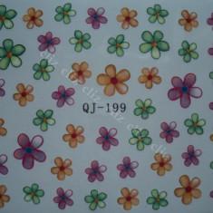 Tatuaj transfer pe baza de apa sticker pentru unghii QJ 199