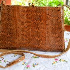 VINTAGE - PLIC / POSETA DIN PIELE DE SARPE - Geanta vintage