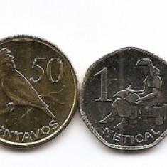 Mozambic Set 9 - 1, 5, 10, 20, 50 Cents, 1, 2, 5, 10 Meticais 2006 - UNC !!!, Africa