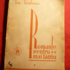 Ion Minulescu - Romante pentru mai tarziu - Ed.1927 Cultura Nationala