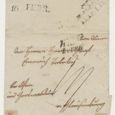 Austria Transilvania 1840 plic prefilatelic Viena Cluj cu stampile liniare data