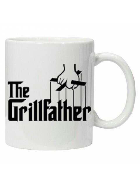 Cana  The Grillfather, cana personalizata,cana ceai, cana cafea,cana funny foto mare