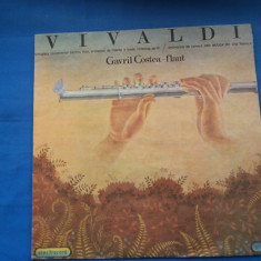 VINIL MUZICA CLASICA VIVALDI-FLAUT COSTEA GAVRIL, electrecord