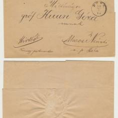 Transilvania 1880 scrisoare oficiala din Deva catre groful Geza Kuun
