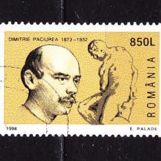 Timbre ROMANIA 1998 = 125 ANI DE LA NASTERE D. PACIUREA, Stampilat