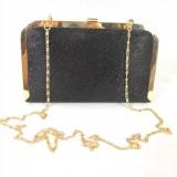 Clutch/ geanta dama neagra eleganta de catifea+CADOU
