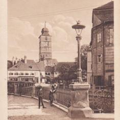 SIBIU, SIBIUL VECHI, KLEINER RING - Carte Postala Transilvania dupa 1918, Circulata, Printata