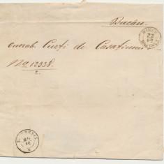 Plic Principatele Unite Moldova spre Muntenia combinatie rara stampile Bacau, An: 1840