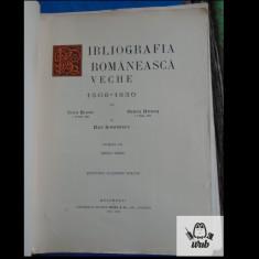 Bibliografia romaneasca veche tom III fasc. III-VIII 1817-1830